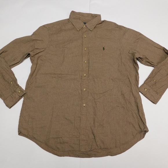 Ralph Lauren Other - Ralph Lauren 2XL Brown Button Down Shirt  Cotton